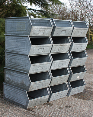 Large Industrial Metal Bins