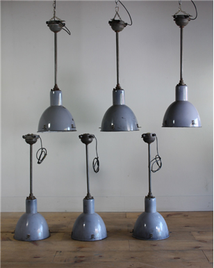 Turner and cox vintage and industrial lighting for the home metal stemmed pendant lights aloadofball Image collections