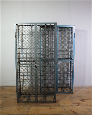 Grey and Blue Metal Wine Cages