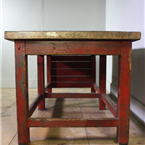 red industrial table