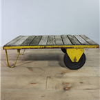 yellow trolley table