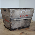 champagne crate red epernay