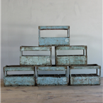 french blue wine crates